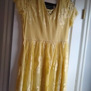 Maurices Yellow Dress with sleeves
